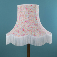 SALE French vintage style Paisley fabric lampshade