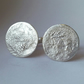 Sterling Silver Textured Cuff Links, Organic Natural Pattern