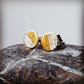 Sterling Silver and gold tiny stud earrings, Little Textured Studs