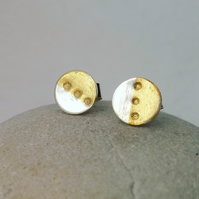Little silver and gold 'dotty' stud earrings