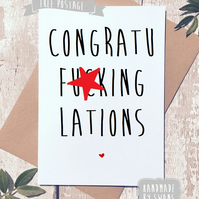 Congratulations Greeting card.