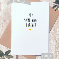 Funny wedding card, engagement card, funny, for friend, rude card, comedy