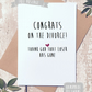 Funny divorce card, single again, congratulations, card for her, card for friend