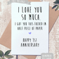 Funny Greeting Card, Happy Valentines Day, Happy Anniversary, Birthday card,