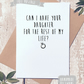 Funny proposal card, for father of the bride, ask permission card,