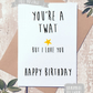 Funny birthday card, Rude Birthday Card, Card for him, Blunt card