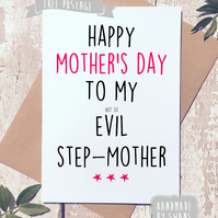 Mother's day card - Evil step mum