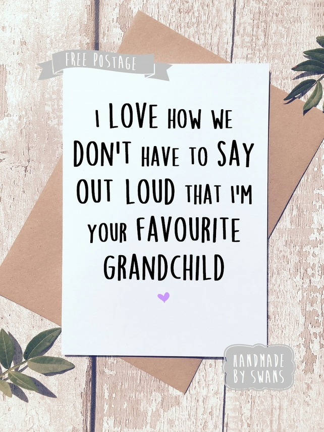 Mother's day card - Favourite Grandchild