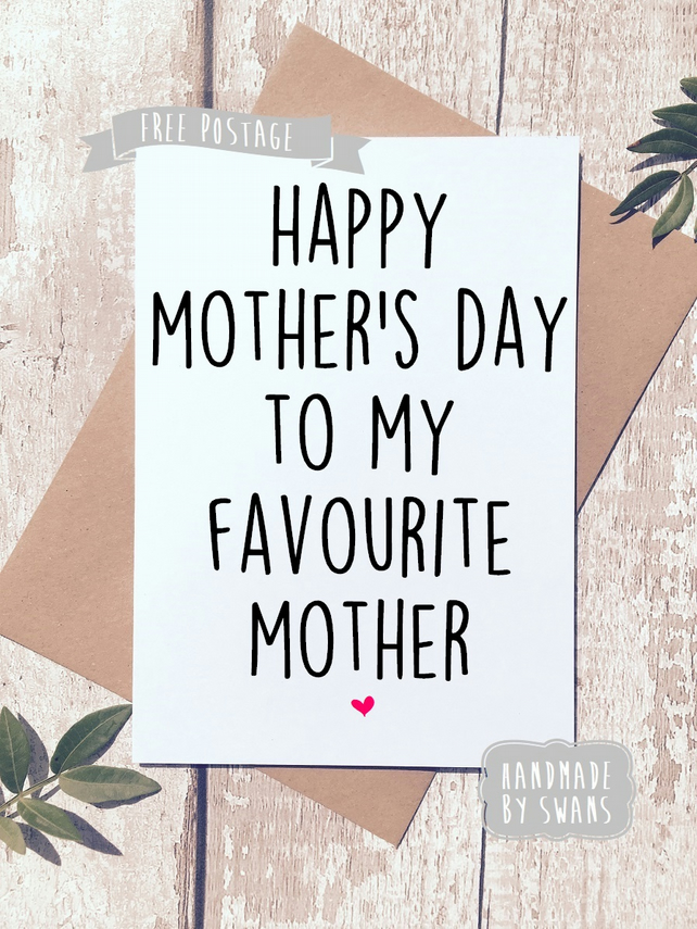 Mother's day card - Favourite Mother