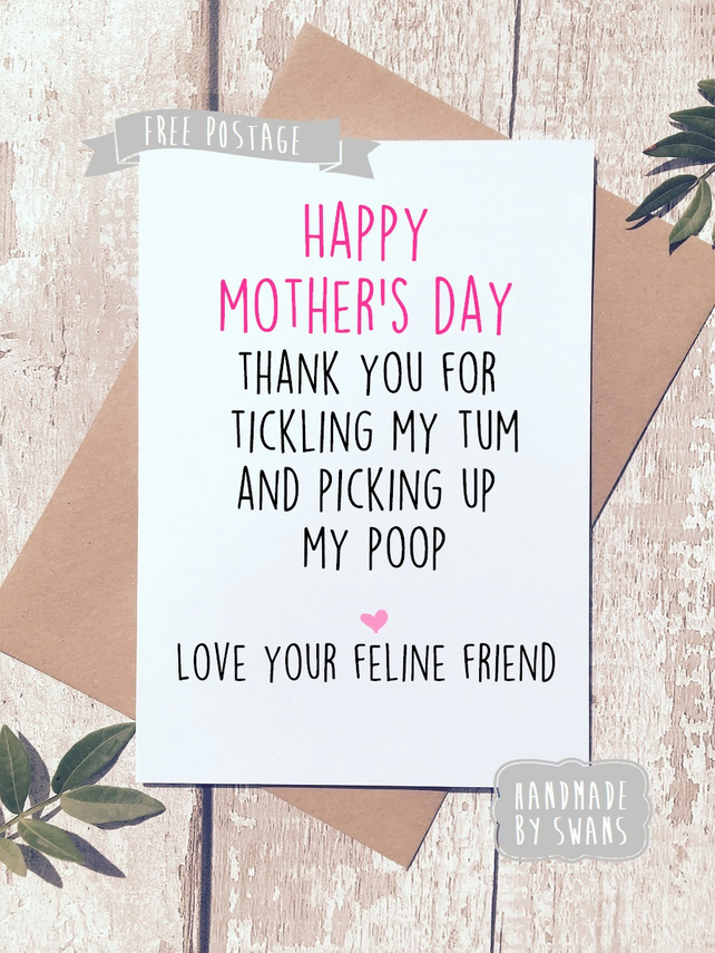 Mother's day card - from your feline friend