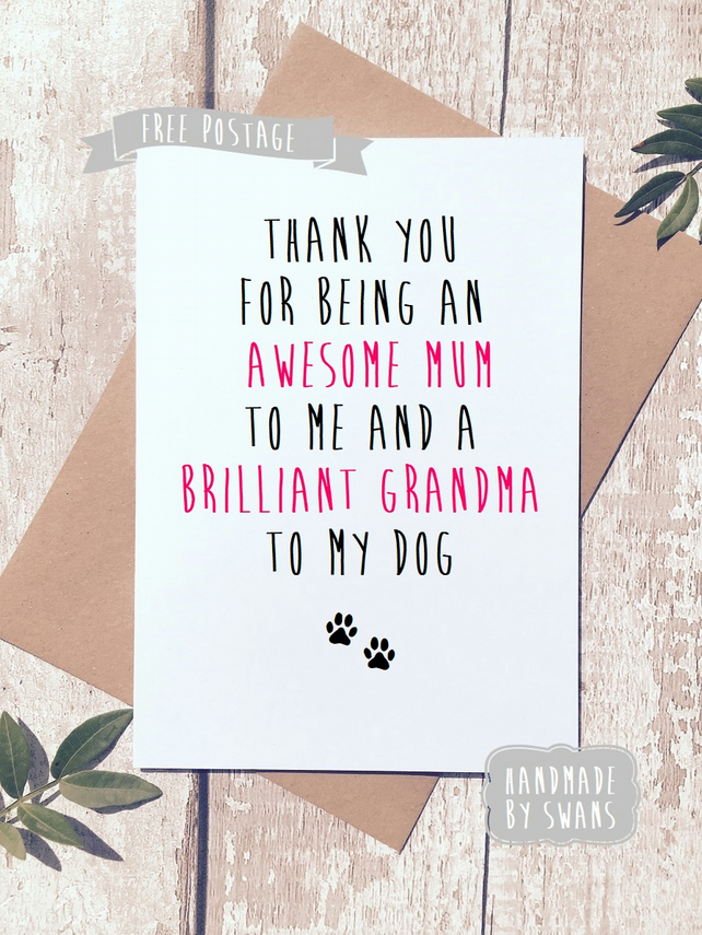 Mother's day card - Awesome mum and brilliant grandma