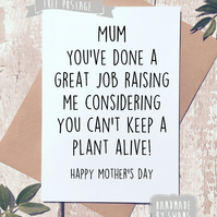 Mother's day card - Thanks for keeping me alive