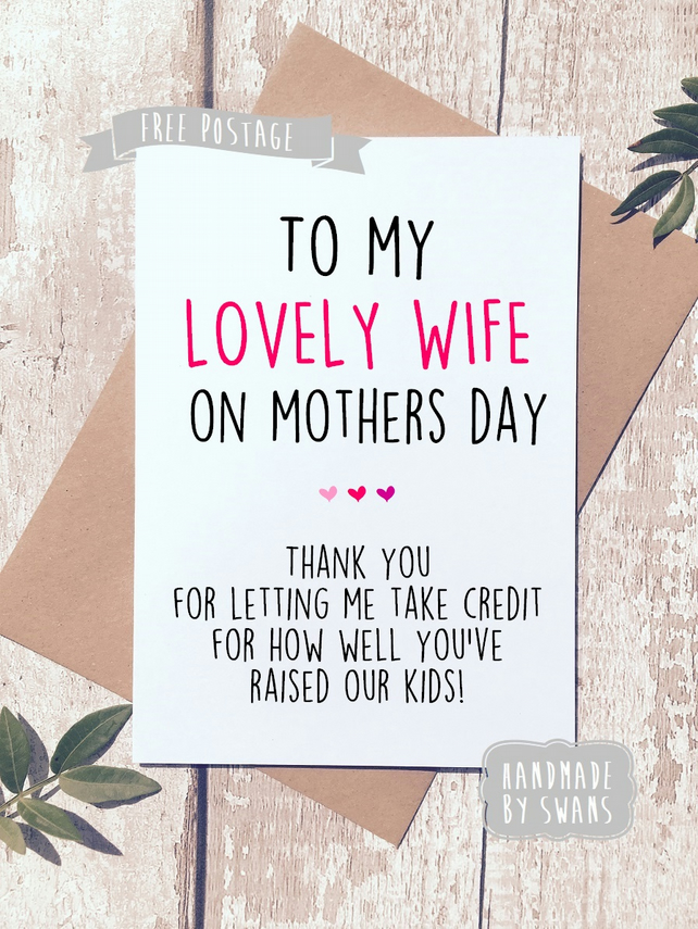 Mother's day card for wife.