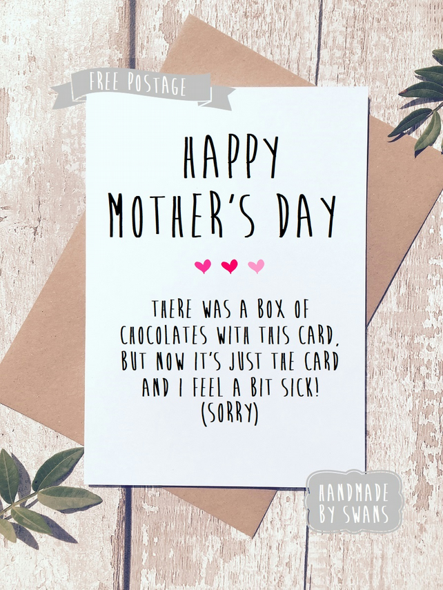 Mother's day card - There was a box of chocolates