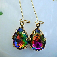 Vintage Glass Color Shif Earrings.............