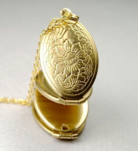 Brass Oval Folding Locket