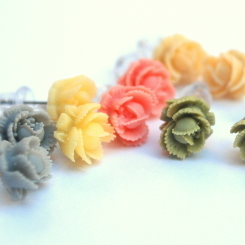 Cute Little Rose Studs