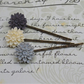Chrysanthemum bobby pins set of 3............