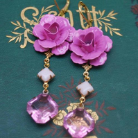 French shabby Chic Vintage Glass Earrings............
