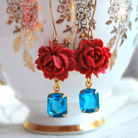 oOo Oh So Pretty Cabochons and Vintage Glass Earrings oOo .
