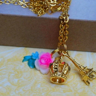 Eiffel Tower and Crown Necklace......