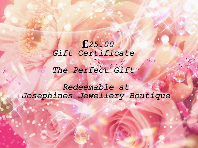 Gift Certificate 25.00 Redeemable at Josephines