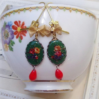 My Sweet Nancy Cameo Earrings..........