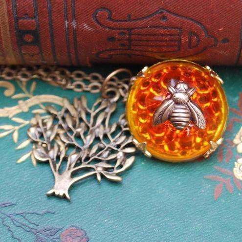 Honey Bee & Tree Necklace....