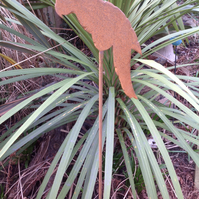Rustic parrot plant support