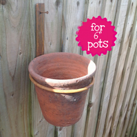 "'Freestyle' Rustic Pot Ring for 6"" pots"
