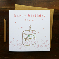 CARD - birthday cake