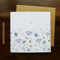 Blue Parsley Notecard