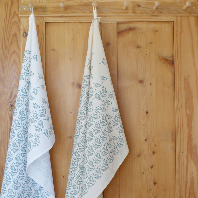 Hand Stitched napkins - Beach Hut