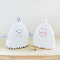 Mr and Mrs Egg Cosies