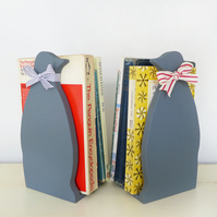 Pair Of Handcrafted Little Penguin Bookends