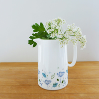 MILK JUG - blue parsley
