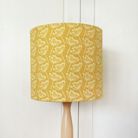 20cm table lamp linen lampshade - cow parsley, mustard