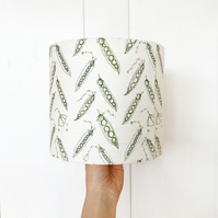 20cm table lamp linen lampshade - ivory peas