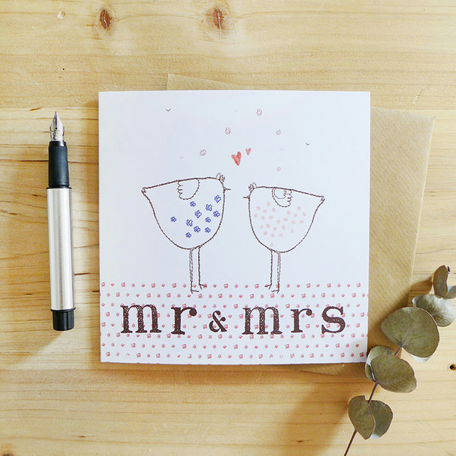 CARD - mr and mrs