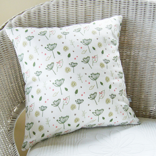 Square Linen Countryside Cushion