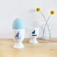 Pair of Yachts Egg Cups