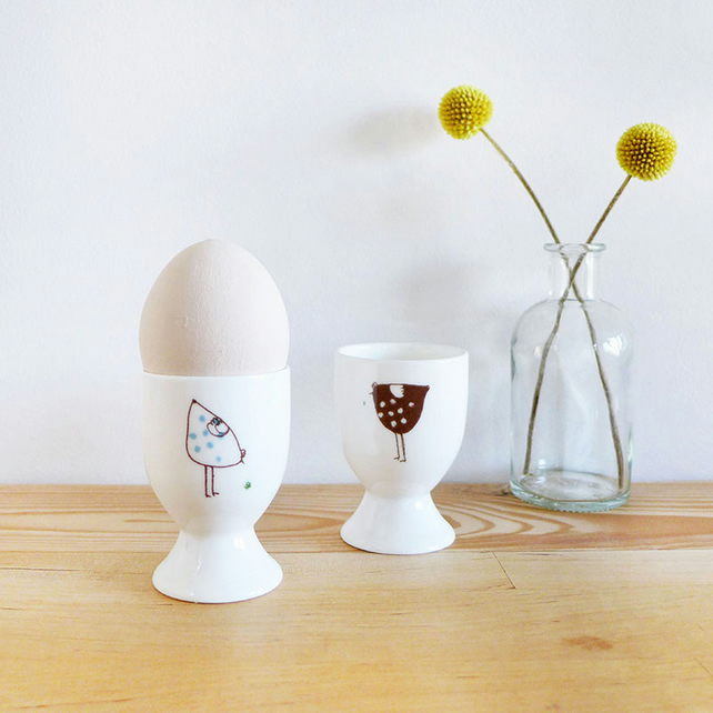 Pair Of Hens Egg Cups