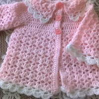 Baby Girls Crochet Coat