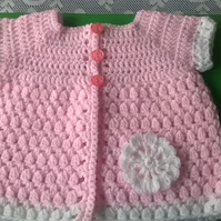 Babies Crochet Short Sleeved Coat