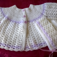 Babys Crochet Bonnet and Coat