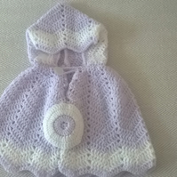 Baby Crochet Poncho with Hood