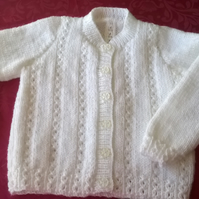 MADE TO ORDER Little girls round neck Cardigan