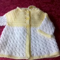 Babies Crochet Hooded Jacket