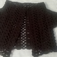 Ladies Crochet Black Shrug, Bolero