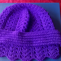 Ladies Crochet Hat and Band